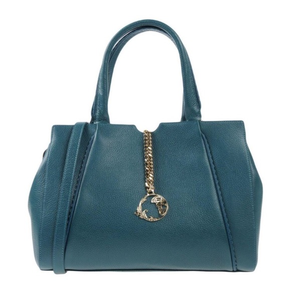 Versace Collection Pebbled Leather HandBag c13fcf71b6898